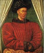 Portrait of Charles VII of France dg FOUQUET, Jean