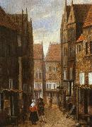 Street Scene with Couple in Conversation Jacobus Vrel