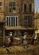 Street Scene with Bakery Jacobus Vrel
