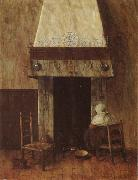 An Old Woman at he Fireplace Jacobus Vrel