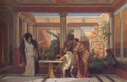 Gustave Boulanger,The Rehearsal in the House of the Tragic Poet (mk23) Alma-Tadema, Sir Lawrence