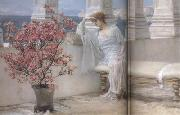 Her Eyes Are with her Thoughts and They Are Far Away (mk23) Alma-Tadema, Sir Lawrence