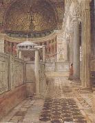 Interior of the Church of San Clemente (mk23) Alma-Tadema, Sir Lawrence