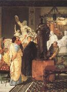 A Sculpture Gallery in Rome at the Time of Augustus (mk23) Alma-Tadema, Sir Lawrence