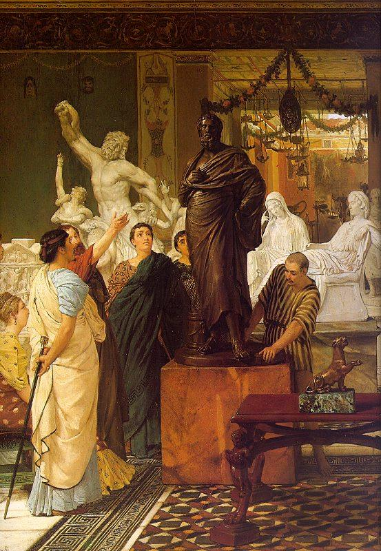 Alma Tadema A Sculpture Gallery