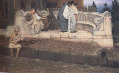 Alma-Tadema, Sir Lawrence An Exedra (mk23)