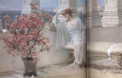 Alma-Tadema, Sir Lawrence Her Eyes Are with her Thoughts and They Are Far Away (mk23)