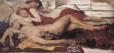 Alma-Tadema, Sir Lawrence Exhausted Maenides (mk23)